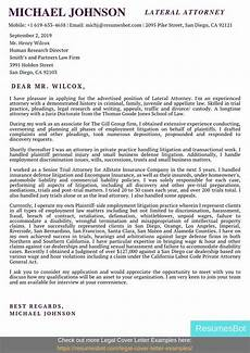 Cover Letter For Attorney Position Lateral Attorney Cover Letter Samples Amp Templates Pdf