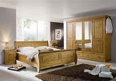 schlafzimmer massivholz landhausstil schlafzimmer set 4teilig kiefer massiv honigfarben lackiert
