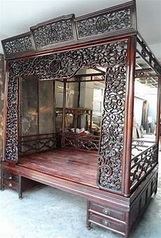 Vintage Canopy Bed Exquisite Antique Rosewood Carved Canopy Bed