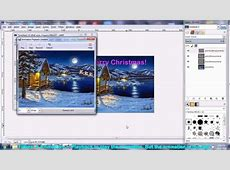 How to make Christmas Animated gif Ecard using free