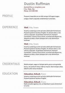 Easy Resume Template Word Basic Cv Templates For Word Land The Job With Our Free