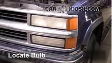 1997 Chevy Silverado Light Bulb Headlight Change 1992 1999 Chevrolet Tahoe 1999