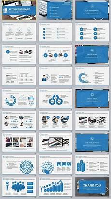 Powerpoint Template Professional 27 Better Blue Professional Powerpoint Templates