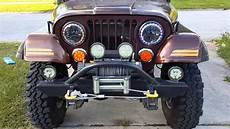 Jeep Cj5 Lights Jeep Cj 7 With Switchback Led Halos Youtube