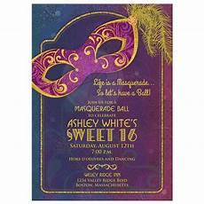 Masquerade Invitations For Sweet 16 Masquerade Ball Sweet 16 Invitation Tones And Gold