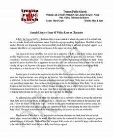 Response To Literature Essay Example Formal Literary Sample