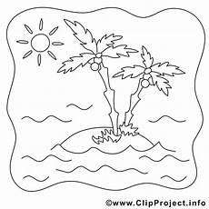 bild zum ausmalen insel mit palmen