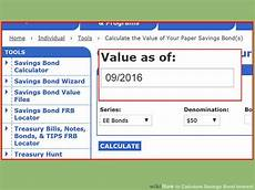 Ee Bond Value Chart How To Calculate Savings Bond Interest 14 Steps With