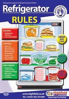 Restaurant Refrigerator Storage Chart Poster 14 Refrigerator Rules Highfield Training