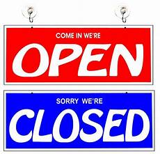 Closed For Business Sign Open And Closed Two Sided Large Business Sign 717029296191