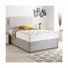 sleep factory limited divan bed set with quilted ortho