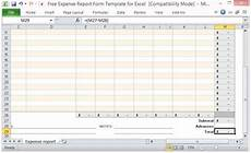 Expense Manager Excel Template Free Expense Report Form Template For Excel