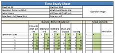 Time Study Templates How To Do Time Study For Garment Operations