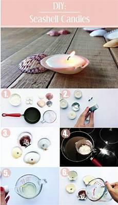 candele con conchiglie 1001 idee per candele fai da te da creare a casa