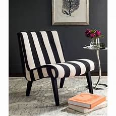 safavieh black white polyester accent chair mcr4552f