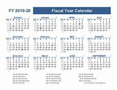 2020 Fiscal Year Calendar 2019 2020 Fiscal Planner Us Free Printable Templates