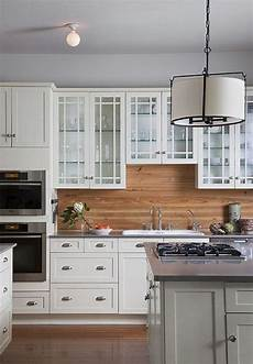white kitchen cabinets with backsplash 24 wooden kitchen backsplashes for a wow effect digsdigs