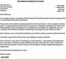 Recruitment Cover Letters Recruitment Consultant Cover Letter Example Lettercv Com