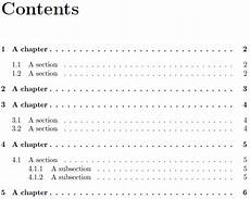 Different Types Of Table Of Contents Table Of Contents Inconsistent Spacing Tex Stack