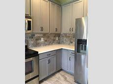 Acier Kitchen   2 Cabinet Girls