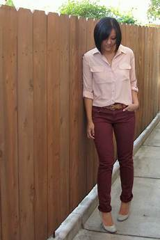 Light Pink Shirt What Color Pants Mauve Maroon Outfit Maroon Pants Outfit Burgundy Pants