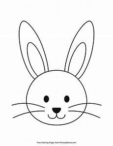 simple bunny outline coloring page free printable