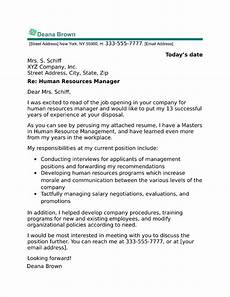 Human Resources Cover Letter Human Resources Manager Cover Letter Sample