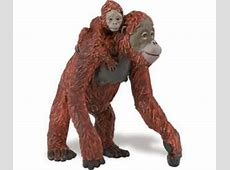 Orangutan Toy Mom and Baby Miniature Replica
