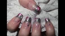 nageldesign natur verlauf metallic glitter nageldesign mit water nail tattoos zum