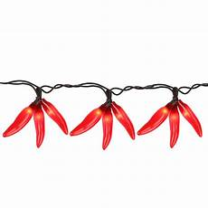 Chili Pepper Lights Set Of 36 Red Chili Pepper Cluster Christmas Lights