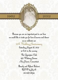 50th Anniversary Template 50th Anniversary Invitation Template