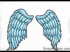 Drawing Of Angel Wings How To Draw Angel Wings Youtube