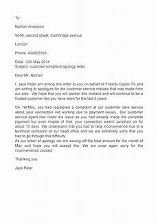 Apology Letter To Customers 48 Useful Apology Letter Templates Amp Sorry Letter Samples