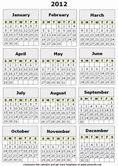 Printable 12 Month Calendar On One Page 5 Best Images Of Printable 12 Month Calendar On One Page
