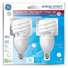 Instant On Cfl Light Bulbs Ge Energy Smart 13 Watt 60 Watt Replacement Quot Instant On