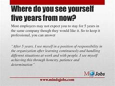 Five Years From Now Mindqjobs Com Fresher Interview Hr Questions