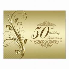 50th Anniversary Template 50th Wedding Anniversary Invitation Card Zazzle