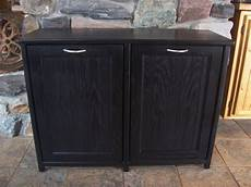 new black painted wood trash bin cabinet by woodupnorth