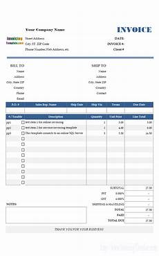 Courier Invoice Format Excel Microsoft Access Invoice Template