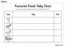 Food Tally Chart A Sense Of Taste Topic Teaching Resources