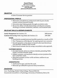 Career Objective Examples For Customer Service Resume Sample Sales Customer Service Job Objective