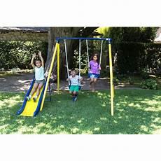 toddler swing set sportspower power play time metal swing set outdoor