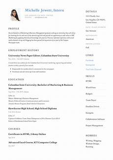 Cv For Internship Example Intern Resume Amp Writing Guide 12 Samples Pdf 2019