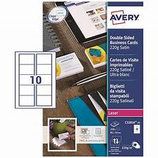 Avery Business Cards 10 Per Sheet Avery Quick And Clean Laser Satin Business Cards 85mm X