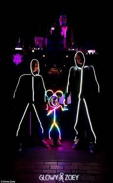 Diy Stickman Light Costume Clever Dad Designs Adorable Led Color Changing Stick