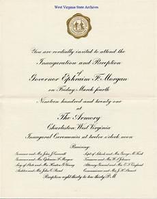 Inauguration Invitation Card Sample Gubernatoral Inaugurations