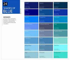 Blue Shades Color Chart Shades Of Blue Color Palette