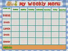 Free Weekly Menu Templates Gluten Free Jersey Girl 3 Day Raw Food Cleanse