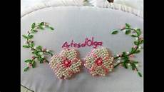 diy bead embroidery pearl flower stitch flores bordadas