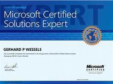 Microsoft Cerificate Microsoft Certified Solutions Expert Messaging Mcse